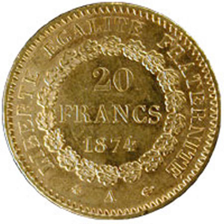 France 20 Francs Angels
