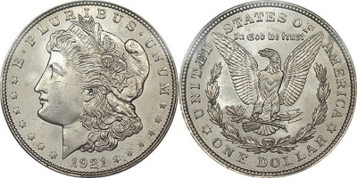 1921 Morgan Dollars Avg Circ (1,000 pc.)