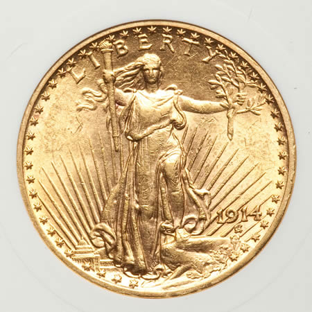 $20 St. Gaudens Double Eagles (XF-AU details)