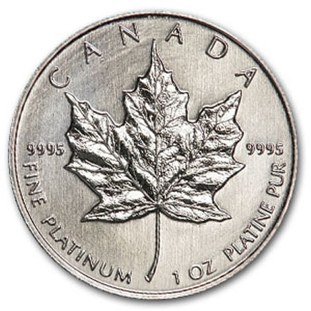 Canada Platinum Maple Leafs BU (1 oz.)