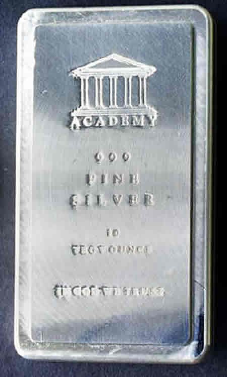10 ounce Silver Bars 10 count