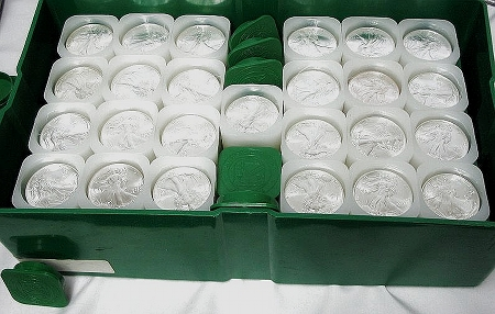 US Silver Eagles 100 count
