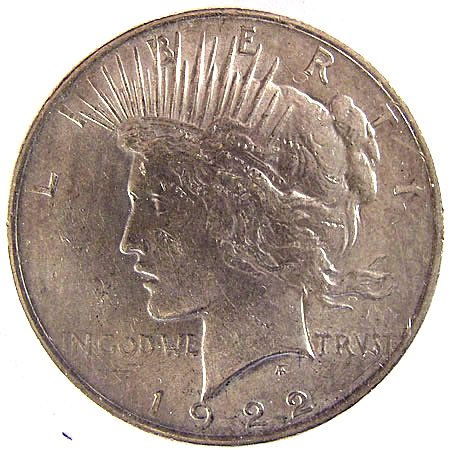 1922-35 Peace Dollars Avg Circ (1,000 pc.)