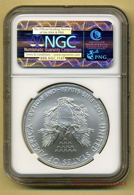 US 2013(S) Silver Eagle NGC MS70 Golden Gate First
