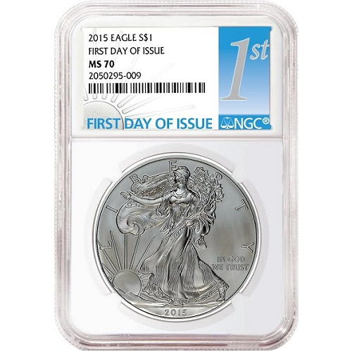 2015 Silver Eagle NGC MS70 First Day
