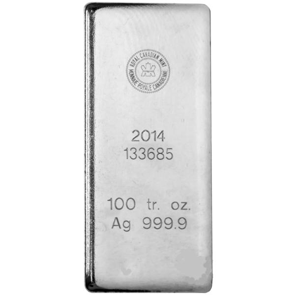 Silver Bars 100 ounce