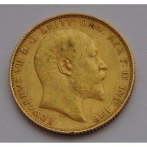 1502005_British_Sovereigns_King_Edward_circulated_Ten_(10)_pieces_obv