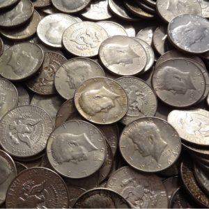 2204001_US_90%_1964_Kennedy_Half_Dollars_$50 face