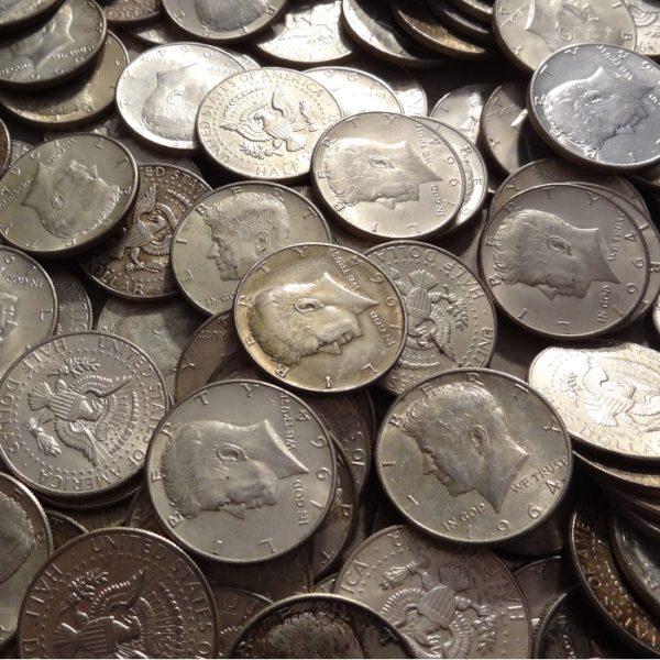 2204002_US_90%_1964_Kennedy_Half_Dollars_$100 face