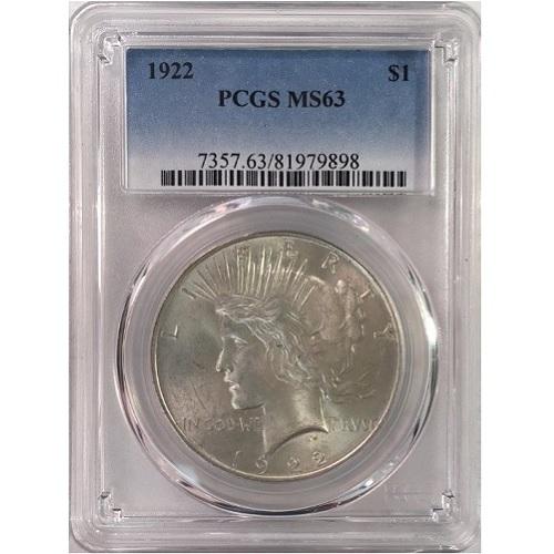 2303402_Peace_Dollars_PCGS_MS63_20_pcs_obv